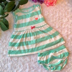 Carter's Baby Girl Striped Dress w/ Diaper Cover